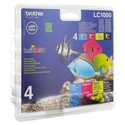 Pack 4 cartridges Brother LC1000 black - cyan - magenta - yellow