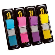 Set 4 dispensers 35 bookmarks 12.7 mm, assorted vivid colours