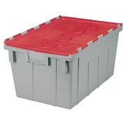 Grey transport box with red cover, 50l