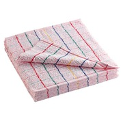 Pack of 10 chequered towels, blue