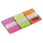 Set 3 index Strong Post-It roze/groen/neon oranje