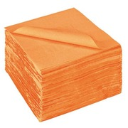 Package of 150 napkins in cotton wool 39x39 cm orange
