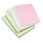 Assortment colored index cards 210 x 297 mm checked 5 x 5 - Box of 100