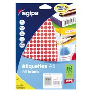 Pack of 2940 round labels, blue