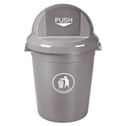 Trash can Push 80 liters - grey