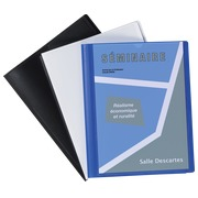 Customizable document protector extra thin Viquel A4 10 sleeves white