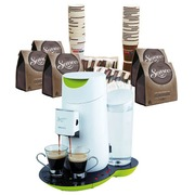 Pack espresso machine Senseo Twist white - aniseed green + kit Senseo