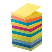 Pack 9 + 3 for free notes Post-it fruity colors 76 x 76 mm