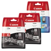 Canon big pack PG540XL + CL541XL 2 black cartridges + 1 multipack color high capacity for inkjet printer