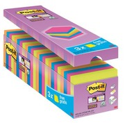 Pack 21 + 3 coloured notes Super Sticky Post-It 76 x 76 mm
