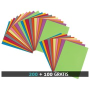 Set 2 packages 100 vivid assorted colored folders + 1 package of 100 for free