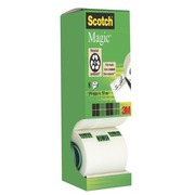 Pack 7 + 1 Plakband Scotch Magic invisible 19 mm x 33 m