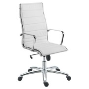 Chair Milano leather white - Back H 60 cm