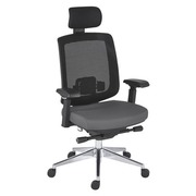 Office chair Zolpee - synchronous - mesh back seat grey