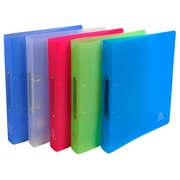 Ring binder 2 rings of 30 mm polypropylene CHROMALINE - Maxi A4 size - Assorted colours