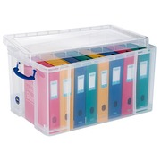 Really-Useful-Box Plastic Storage Box 84 L Colourless