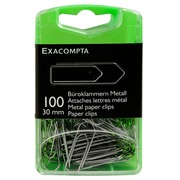 Box of 100 paper clips 30mm - Silver