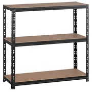 Rack Concepto H 97 x W 100 cm with 3 shelves in chipboard without edges