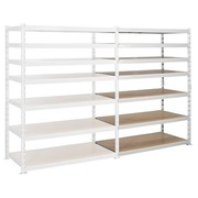 Archive rack Archiv' Eco 2 - extension element H 192.5 x W 150 x D 70 cm galvanized steel plate double access