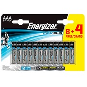 Alkaline batteries AAA -  LR3 Energizer Max Plus 8 pieces + 4 for free