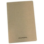 Linen notebook grey 19,5 x 12,5 cm