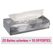 Pack 20 + 10 boxes with white handkerchiefs Kleenex - box of 100