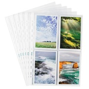 Package of 10 perforated sleeves Elba for pictures smooth polypropylene 8/100e - 24 x 31cm