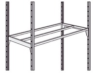 Set of 2 shelves Industri Eco/Pro 100 x 40 cm