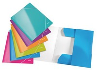 Folder with 3 flaps and elastic closing Leitz Wow ass. 24 x 31 cm back 2,4 cm