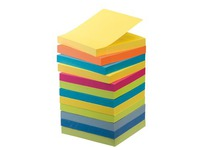 Pack 9 + 3 gratis notes Post-it fruitige kleuren 76 x 76 mm