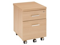 Mobile cabinet wood 2 drawers Shiny