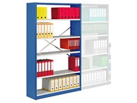 Versatile shelving, basic element, W 120 cm, without back panel