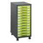 Mobile drawer cabinet Izo 12 drawers
